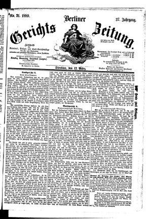 Berliner Gerichts-Zeitung vom 12.03.1889