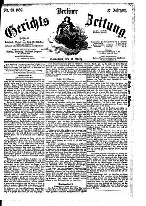 Berliner Gerichts-Zeitung vom 16.03.1889