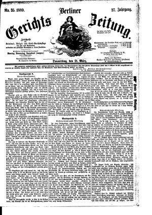Berliner Gerichts-Zeitung vom 21.03.1889