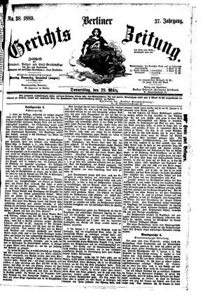 Berliner Gerichts-Zeitung vom 28.03.1889