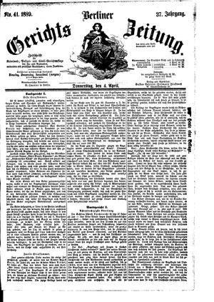 Berliner Gerichts-Zeitung vom 04.04.1889