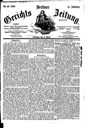 Berliner Gerichts-Zeitung vom 09.04.1889