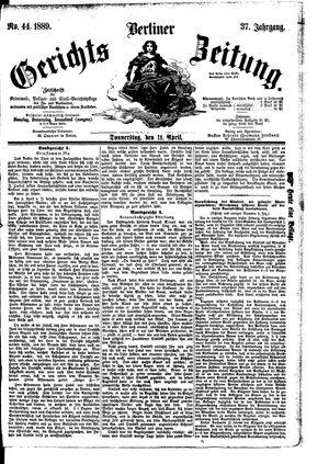 Berliner Gerichts-Zeitung vom 11.04.1889