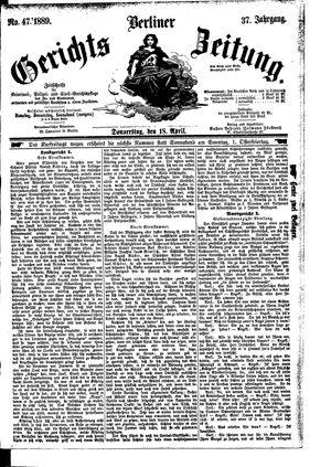 Berliner Gerichts-Zeitung vom 18.04.1889