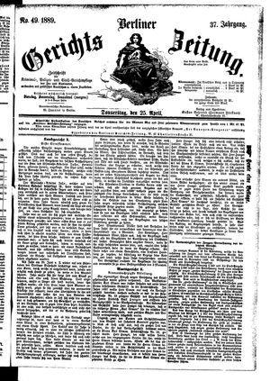 Berliner Gerichts-Zeitung vom 25.04.1889