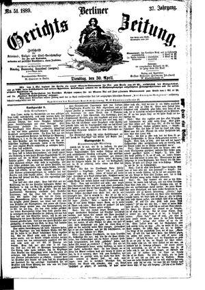 Berliner Gerichts-Zeitung vom 30.04.1889