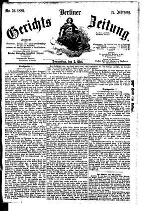 Berliner Gerichts-Zeitung vom 02.05.1889
