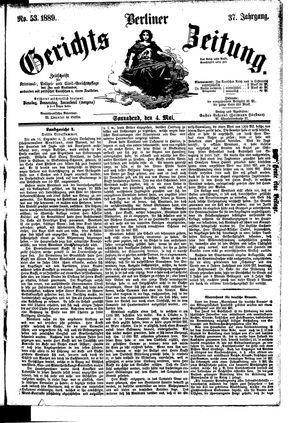 Berliner Gerichts-Zeitung vom 04.05.1889