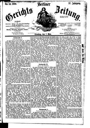 Berliner Gerichts-Zeitung vom 07.05.1889
