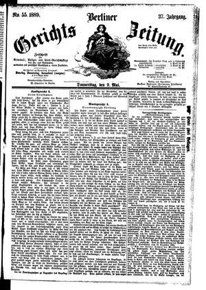 Berliner Gerichts-Zeitung vom 09.05.1889