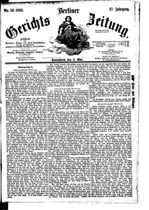 Berliner Gerichts-Zeitung vom 11.05.1889