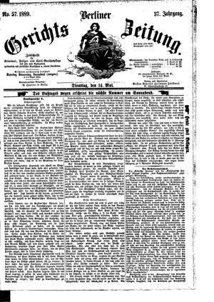 Berliner Gerichts-Zeitung vom 14.05.1889