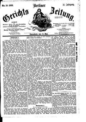 Berliner Gerichts-Zeitung vom 18.05.1889