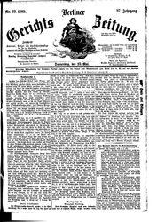 Berliner Gerichts-Zeitung (23.05.1889)