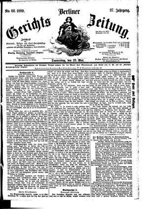 Berliner Gerichts-Zeitung vom 23.05.1889