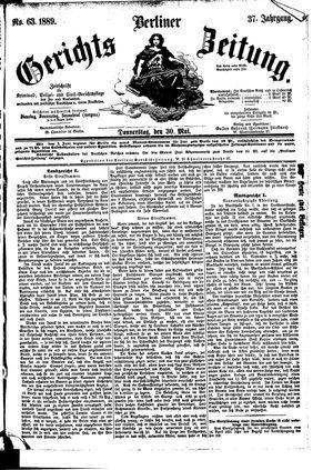 Berliner Gerichts-Zeitung vom 30.05.1889