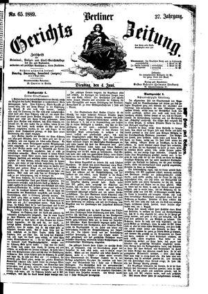 Berliner Gerichts-Zeitung vom 04.06.1889