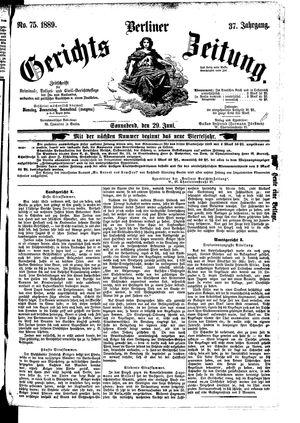 Berliner Gerichts-Zeitung vom 29.06.1889