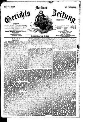 Berliner Gerichts-Zeitung vom 04.07.1889