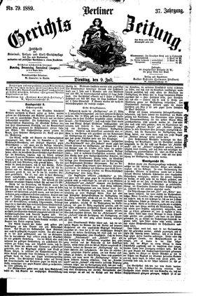 Berliner Gerichts-Zeitung vom 09.07.1889