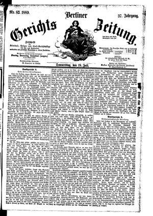 Berliner Gerichts-Zeitung vom 18.07.1889