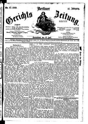 Berliner Gerichts-Zeitung vom 27.07.1889