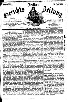 Berliner Gerichts-Zeitung vom 01.08.1889