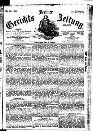 Berliner Gerichts-Zeitung vom 03.08.1889