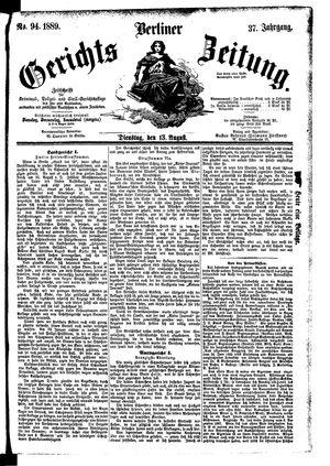 Berliner Gerichts-Zeitung vom 13.08.1889