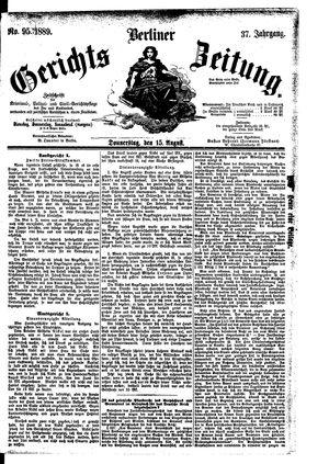Berliner Gerichts-Zeitung vom 15.08.1889