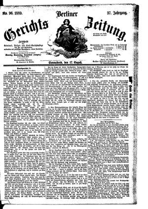 Berliner Gerichts-Zeitung vom 17.08.1889