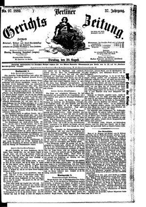 Berliner Gerichts-Zeitung vom 20.08.1889