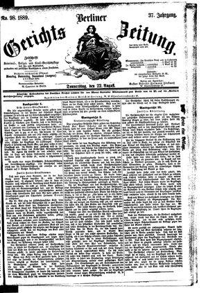 Berliner Gerichts-Zeitung vom 22.08.1889