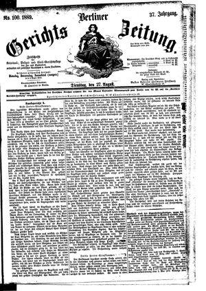 Berliner Gerichts-Zeitung vom 27.08.1889