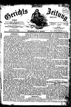 Berliner Gerichts-Zeitung vom 04.01.1890