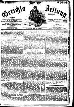 Berliner Gerichts-Zeitung vom 07.01.1890