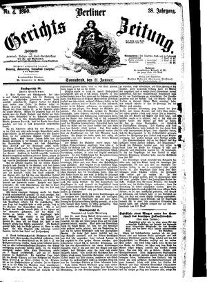 Berliner Gerichts-Zeitung vom 11.01.1890
