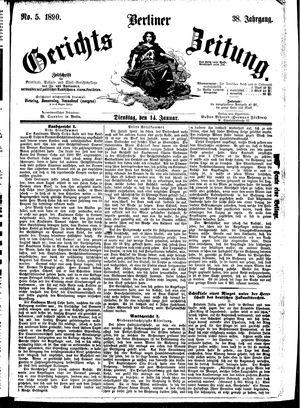 Berliner Gerichts-Zeitung vom 14.01.1890