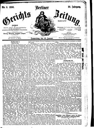 Berliner Gerichts-Zeitung vom 16.01.1890