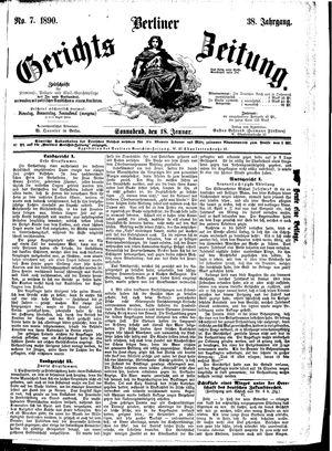 Berliner Gerichts-Zeitung vom 18.01.1890