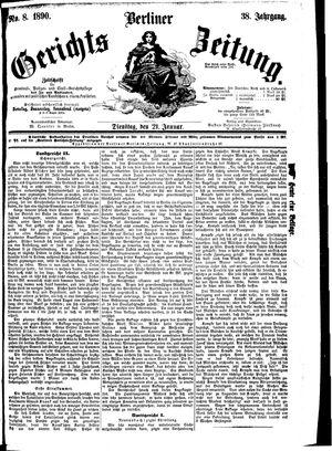 Berliner Gerichts-Zeitung vom 21.01.1890