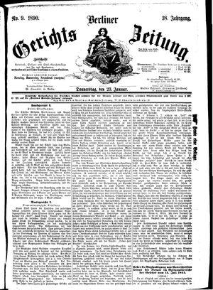 Berliner Gerichts-Zeitung vom 23.01.1890