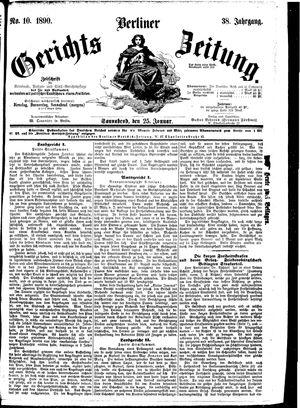 Berliner Gerichts-Zeitung vom 25.01.1890
