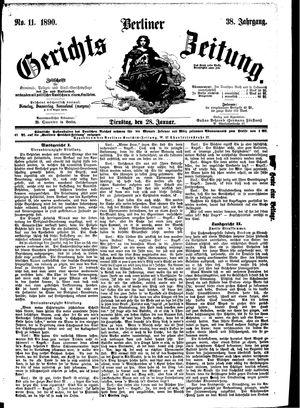 Berliner Gerichts-Zeitung vom 28.01.1890