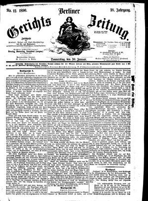 Berliner Gerichts-Zeitung vom 30.01.1890