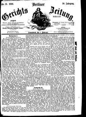 Berliner Gerichts-Zeitung vom 01.02.1890