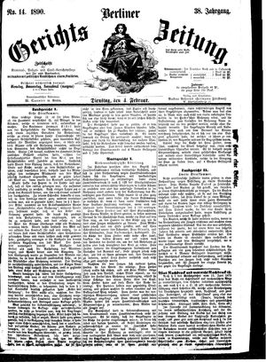 Berliner Gerichts-Zeitung vom 04.02.1890