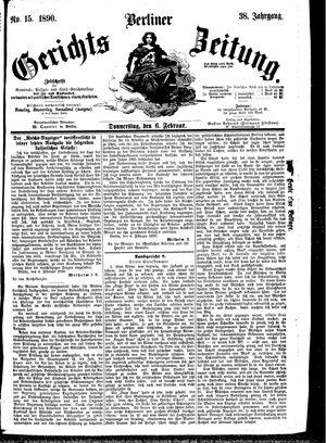 Berliner Gerichts-Zeitung vom 06.02.1890