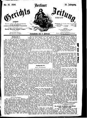 Berliner Gerichts-Zeitung vom 08.02.1890