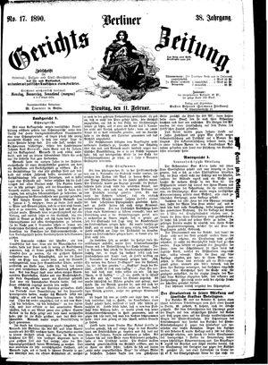 Berliner Gerichts-Zeitung vom 11.02.1890